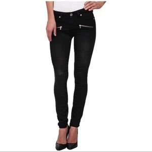 Paige Indio Zip Stretch Black Jeans